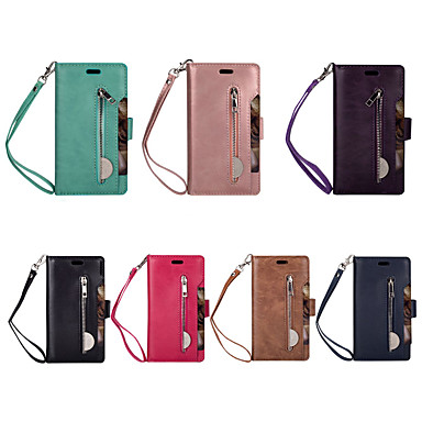 cheap Samsung Case-Case For Samsung Galaxy S7 edge / Galaxy A10(2019) / Samsung Galaxy A40(2019) Wallet / Card Holder Full Body Cases Solid Colored PU Leather