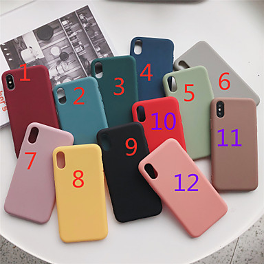 voordelige iPhone 5 hoesjes-hoesje Voor Apple iPhone 11 / iPhone 11 Pro / iPhone 11 Pro Max Mat Achterkant Effen TPU