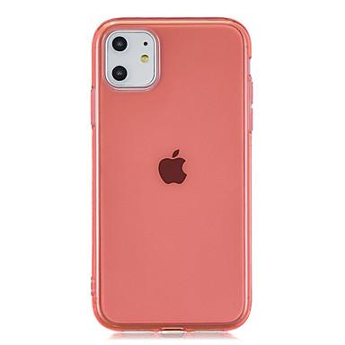voordelige iPhone-hoesjes-hoesje Voor Apple iPhone 11 / iPhone 11 Pro / iPhone 11 Pro Max Mat / Transparant Achterkant Effen TPU
