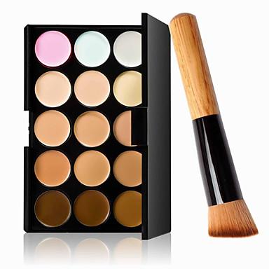 15 Culori Anticearcăn Khaki Concealer / contur 1 pcs Uscat / Ud / Mat Impermeabil / Respirabil / Albire Corp / Faţă Machiaj Cosmetic