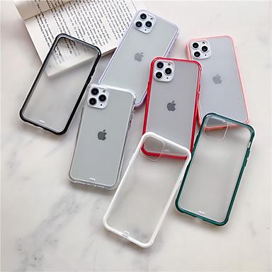 Недорогие Кейсы для iPhone X-Кейс для Назначение Apple iPhone 11 / iPhone 11 Pro / iPhone 11 Pro Max Матовое Кейс на заднюю панель Однотонный Акрил