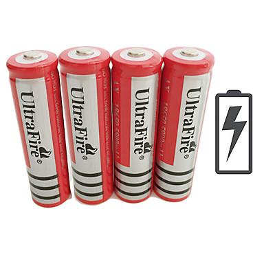 olcso Csináld magad alkatrészek és szerszámok-UltraFire BRC Li-on 18650 akkumulátor 4200 mAh 4db 3.7 V Újratölthető mert Zseblámpa Kerékpár fény Fejlámpák Vadászat Mászás Kempingezés / Túrázás / Barlangászat