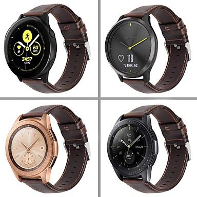Недорогие Часы для Samsung-smartwatch band для samsung galaxy 46 / gear s3 / s3 classic / s3 frontier / gear 2 r380 / 2 neo r381 sport band высококачественная удобная кожаная петля из натуральной кожи ремешок на запястье 22 мм