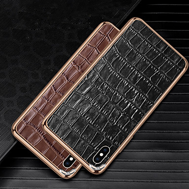 Недорогие Кейсы для iPhone-Кейс для Назначение Apple iPhone XS / iPhone XR / iPhone X Защита от удара Кейс на заднюю панель Геометрический рисунок Металл / Алюминий