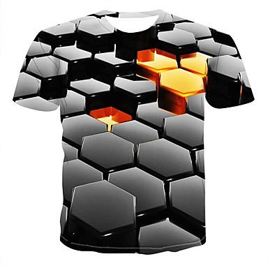 cheap Christmas Deals-Men's Daily T-shirt - 3D Black