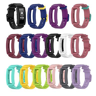 billiga Tillbehör till smarta klockor-klockband för fitbit ess 2 / fitbit inspire hr / fitbit inspirera fitbit klassiskt spänne silikon handledsrem