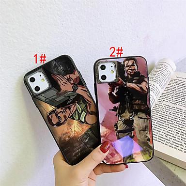 Недорогие Кейсы для iPhone 7 Plus-Кейс для Назначение Apple iPhone 11 / iPhone 11 Pro / iPhone 11 Pro Max С узором Кейс на заднюю панель 3D в мультяшном стиле Закаленное стекло