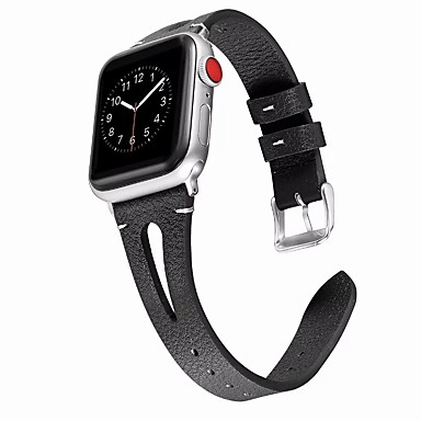 cheap Smartwatch Accessories-Watch Band for Apple Watch Series 5/4/3/2/1 Apple Classic Buckle / Business Band Genuine Leather Wrist Strap Hollowing out