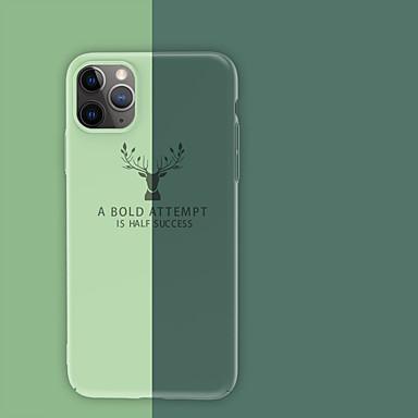 voordelige iPhone 7 Plus hoesjes-hoesje Voor Apple iPhone 11 / iPhone 11 Pro / iPhone 11 Pro Max Schokbestendig Achterkant Effen PC