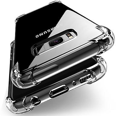 Недорогие Чехол Samsung-роскошный противоударный прозрачный мягкий силиконовый чехол для samsung galxay s10 s9 s8 plus s7 край чехлы