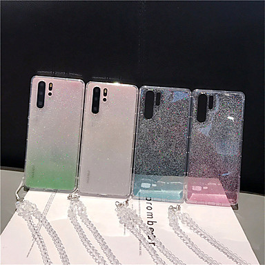 Недорогие Чехлы и кейсы для Galaxy Note-Кейс для Назначение SSamsung Galaxy S9 / S9 Plus / S8 Plus Прозрачный / Сияние и блеск Кейс на заднюю панель Градиент цвета ТПУ
