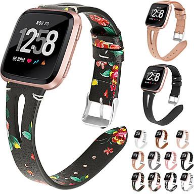 ieftine Uita-te Benzi pentru Ticwatch-Bandă de ceas din piele de imprimare la modă pentru curea de mână în formă de brată înlocuibilă cu 2 / versa lite