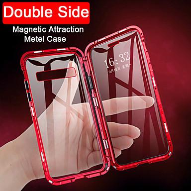 billige Telefonetuier-Etui Til Samsung Galaxy Flipp / Magnetisk Heldekkende etui Gjennomsiktig Herdet glass / Metall