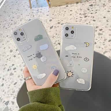 Недорогие Кейсы для iPhone 7 Plus-Кейс для Назначение Apple iPhone 11 / iPhone 11 Pro / iPhone 11 Pro Max Защита от удара Кейс на заднюю панель Мультипликация ТПУ