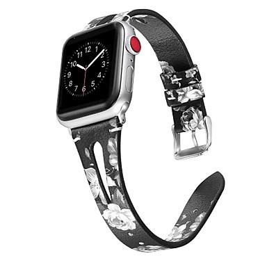 voordelige Apple Watch-bandjes-horlogeband voor Apple Watch-serie 5/4/3/2/1 Apple Classic-gesp lederen polsband