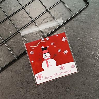 olcso Ajándékok-10 db karácsonyi hóember baba ajándék táska