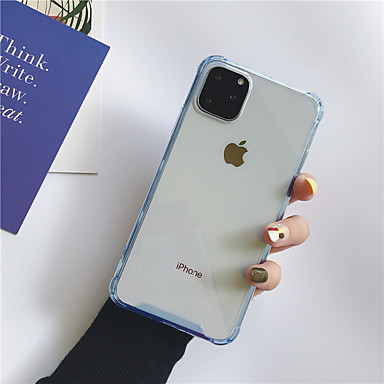 Недорогие Кейсы для iPhone 7-чехол для карты яблока сцены iphone 11 11 pro 11 pro max x xs xr xs max 8 классический сплошной цвет прозрачный четырехугольный подушка безопасности анти-капля акриловая задняя панель против царапин