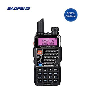 olcso Walkie Talkies-walkie-talkie hordozható rádió baofeng uv-5re kettős sávú kettős felhasználású rádió po feng uv 5re 5w 128ch uhf / vhf kettős kijelzőű rádió fejhallgató usb-kábellel
