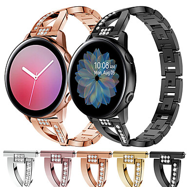 Недорогие Часы для Samsung-ремешок для часов samsung galaxy watch 42mm / samsung galaxy active 2 40 / 44mm samsung galaxy sport band / современная пряжка / ювелирный дизайн браслет из нержавеющей стали