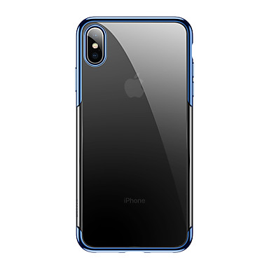 olcso iPhone XS Max tokok-Case Kompatibilitás Apple iPhone XS Max Ultra-vékeny / Átlátszó Fekete tok Átlátszó / Egyszínű TPU