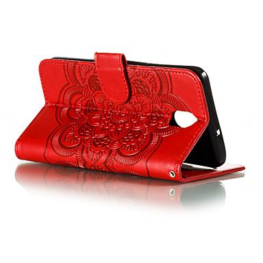 Недорогие Чехлы и кейсы для LG-Кейс для Назначение LG LG V40 / LG K30 / LG G8 Бумажник для карт Чехол Геометрический рисунок Кожа PU