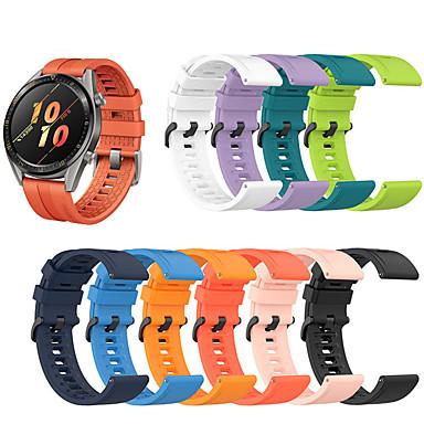 abordables Bracelets pour Huawei-bracelet de montre en silicone sport pour montre huawei gt 2 46mm / 42mm / gt actif / montre 2 pro / honneur magique bracelet remplaçable dragonne dragonne