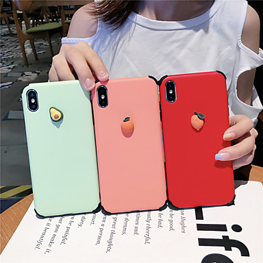 voordelige iPhone 6 hoesjes-hoesje voor Apple iPhone XS / iPhone XS / iPhone XS Max schokbestendig / Patroon Achterkant Voedsel Silicagel voor iPhone 6 6 Plus 6S 6S Plus 7 8 7 Plus 8 Plus X XS