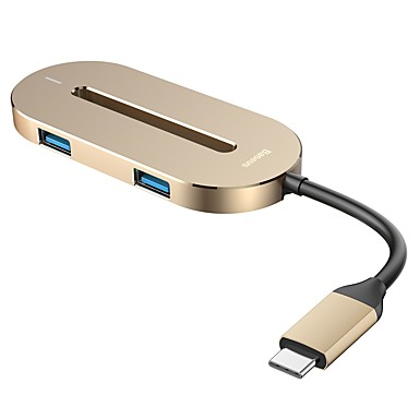 olcso iPod töltők-baseus o hub-c típusú multifunkciós konverter arany