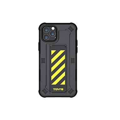 preiswerte iPhone Hüllen-Hülle Für Apple iPhone 11 / iPhone 11 Pro / iPhone 11 Pro Max Stoßresistent / mit Halterung / IMD Ganzkörper-Gehäuse Linien / Wellen / Solide / Rüstung TPU / PC