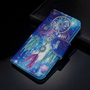 Недорогие Чехлы и кейсы для Xiaomi-Кейс для Назначение Xiaomi Xiaomi Redmi Note 5 Pro / Xiaomi Redmi Note 6 / Xiaomi Redmi 7 Кошелек / Бумажник для карт / Флип Чехол Перья Кожа PU