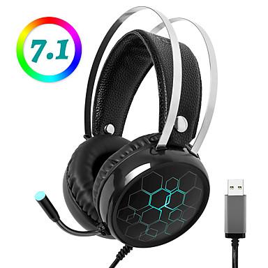 olcso Gaming fülhallgatók-litbest x1 professzionális fejhallgató 7.1-es térhatású fejhallgató rgb fénymikrofonnal pubg dota gamer-hez pc számítógéphez xbox one ps4
