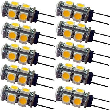 olcso LED izzók-10pcs 1.5 W LED betűzős izzók 120 lm G4 9 LED gyöngyök SMD 5050 Meleg fehér Fehér 12 V
