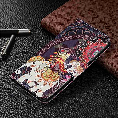 Недорогие Чехлы и кейсы для Galaxy Note-Кейс для Назначение SSamsung Galaxy S9 / S9 Plus / S8 Plus Кошелек / Бумажник для карт / со стендом Чехол Животное Кожа PU / ТПУ