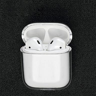 billiga Hörlurstillbehör-Skyddskåpa fall / Hörlurar bärväska Minimalistisk Stil Apple Airpods Reptålig Plastskal