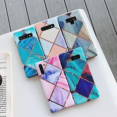 voordelige Samsung-accessoires-hoesje Voor Samsung Galaxy S9 / S9 Plus / S8 Plus Beplating / IMD / Patroon Achterkant Geometrisch patroon / Marmer TPU