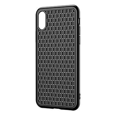 olcso iPhone XS Max tokok-Case Kompatibilitás Apple iPhone XS / iPhone XR / iPhone XS Max Ultra-vékeny Fekete tok Egyszínű TPU