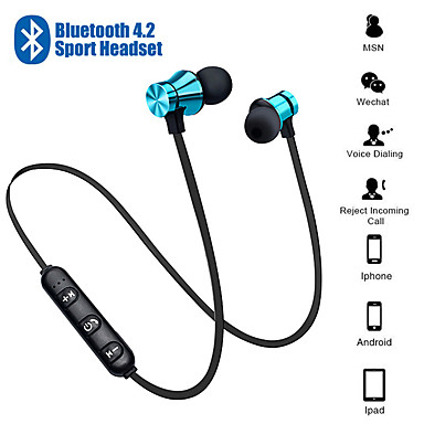 olcso Headsetek és fejhallgatók-xt-11 mágneses vezeték nélküli bluetooth fülhallgató fülhallgató basszus zene fülhallgató fülhallgató