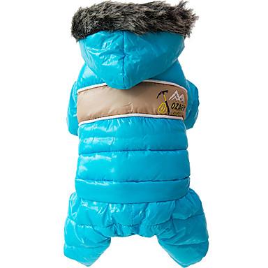 رخيصةأون ملابس وإكسسوارات الكلاب-كلب المعاطف هوديس حللا الشتاء ملابس الكلاب أصفر أحمر أزرق كوستيوم قطن ألوان متناوبة أنيق الدفء ضد الرياح XS S M L XL XXL