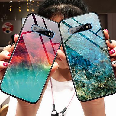 Недорогие Чехлы и кейсы для Galaxy S-Кейс для Назначение SSamsung Galaxy S9 / S9 Plus / Galaxy A7(2018) Зеркальная поверхность Кейс на заднюю панель Градиент цвета Закаленное стекло