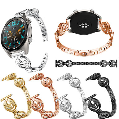 Недорогие Ремешки для часов Huawei-Ювелирный дизайн из нержавеющей стали ремешок для часов для часов Huawei GT 2 46 мм / 42 мм / часы 2 Pro / Honory Magic / GT активный сменный браслет браслет ремешок браслет