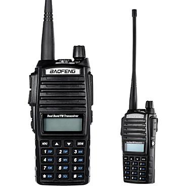 olcso Walkie Talkies-baofeng vhf / uhf kétsávos kézi adó-vevő interfész lcd fm rádióvevővel 8w cb rádió dtmf kódolás vészjelzés