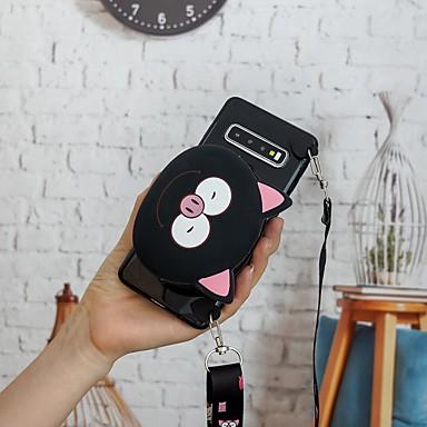 Недорогие Чехлы и кейсы для Galaxy S-Кейс для Назначение SSamsung Galaxy S9 / S9 Plus / S8 Plus Кошелек / С узором Кейс на заднюю панель 3D в мультяшном стиле ТПУ