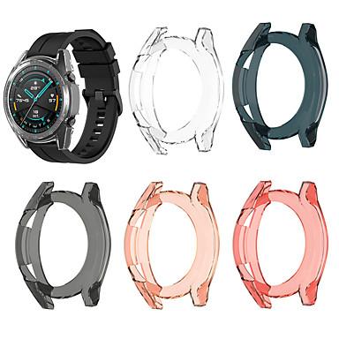 abordables Accesorios para Smartwatch-tpu protector parachoques reloj marco cubierta de la caja para huawei gt2 / gt 46mm accesorios para relojes inteligentes