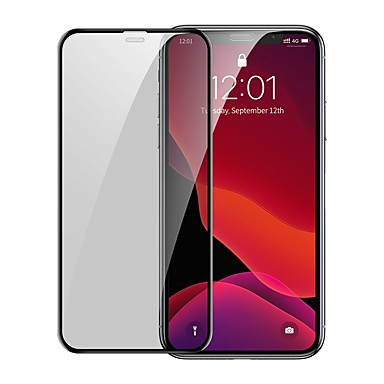 cheap iPhone Screen Protectors-Baseus 0.3mm Full-screen and Full-glass Tempered Glass Film(2pcspackPasting Artifact) for iP 6.1inch2019Black