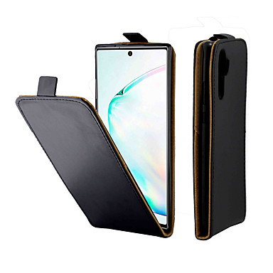 Недорогие Чехлы и кейсы для Galaxy Note-Кейс для Назначение SSamsung Galaxy Note 9 / Note 8 / Galaxy S10 Бумажник для карт / Защита от удара Чехол Однотонный ТПУ