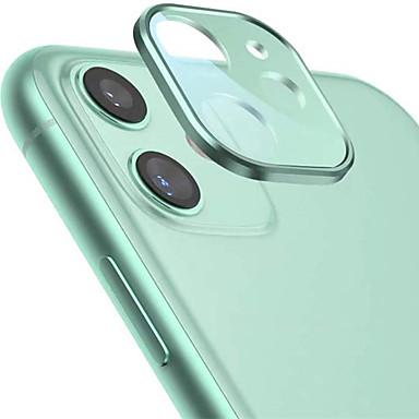 Недорогие Защитные плёнки для экрана iPhone-Защитная пленка для камеры для iphone 11 пленка для камеры металлическая рамка 9h защита из закаленного стекла Легкая установка высокой четкости Совместимость с пленкой Apple iphone 11 (6.1 '')