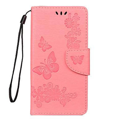 رخيصةأون أغطية وحافظات لأجهزة Huawei P Series-غطاء من أجل Huawei هواوي نوفا 4 / Huawei P20 lite / هواوي P30 حامل البطاقات غطاء كامل للجسم زهور جلد PU