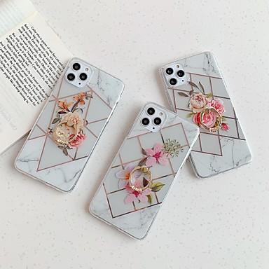 Недорогие Кейсы для iPhone-чехол для apple iphone 7 7p iphone 8 8p iphone x iphone xs xr xs max iphone 11 11 pro 11 pro max iphonese (2020) полупрозрачная задняя крышка цветок тпу