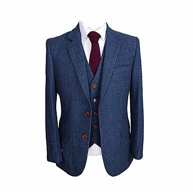 levne Pánské obleky-modrá rybí vlna na zakázku