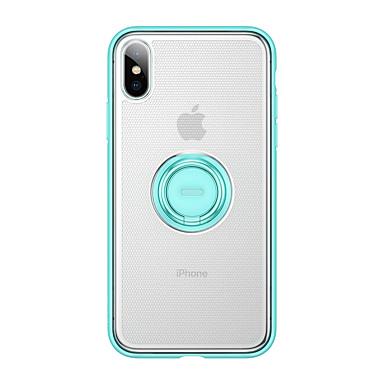 olcso iPhone XS Max tokok-Case Kompatibilitás Apple iPhone XS / iPhone XR / iPhone XS Max Tartó gyűrű / Ultra-vékeny Fekete tok Egyszínű TPU